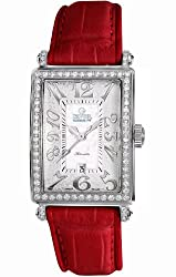 Gevril Women's 6209NL.4 White Mother-of-Pearl Genuine Alligator Strap Watch