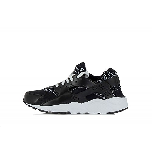 nike huarache run print (GS) trainers 704946 sneakers shoes (6, black white lava glow 004)