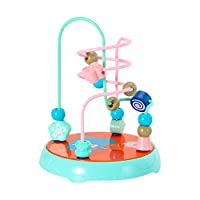 Really Go-us Direct Abs Bead Maze Roller Coaster Activity Cube Educational Beads Circle Toys Gift Colorful Activity Game for Children Boys Girls 6.10x 6.10 X7.67 Inch