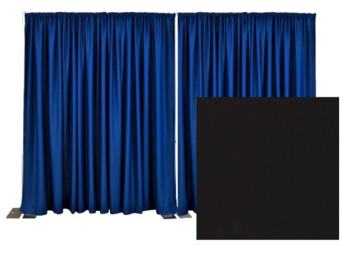 Adjustable Pipe and Drape Premier Backdrop Kit 14 ft. x 20 ft. - Black by P.D.O.