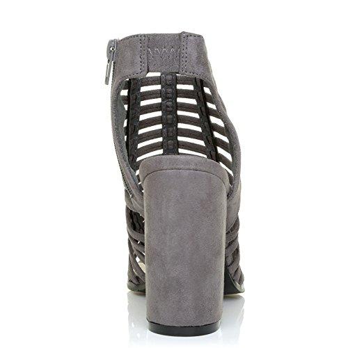 gris UK Miami Suède pour ShuWish Sandales gris femme q0zxd