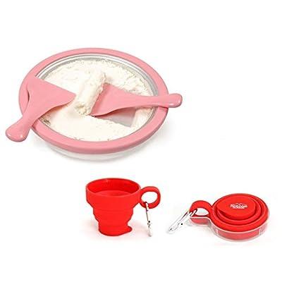 ICEROLL, Ice Roll Pan Ice Cream, Handmade, Ice Cream Machine Ice Cream Roll Making with Ice Cream Cup