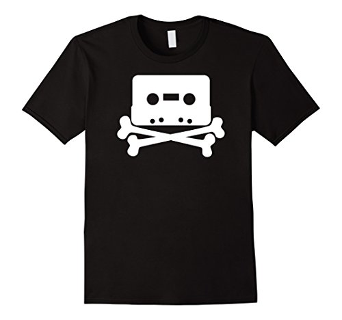 Men's Big Texas The Pirate Bay Skull n' Tape Fine Jersey T-Shirt Large (Pirate Bay Tape)
