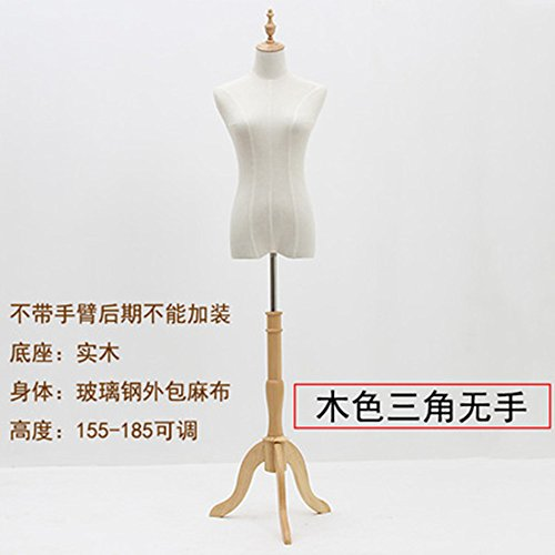 BEIYANG Female Mannequin Torso Dress Form Display Stand Designer Pattern (Wood color, S) by BEIYANG