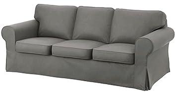 Ikea Ektorp 3 Seat Sofa Cotton Cover Replacement Is Custom Made Slipcover  For IKea Ektorp Sofa