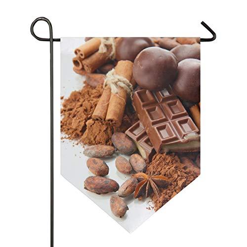 XiangHeFu Garden Flag Condiment Chocolade Snoepjes 12×18.5 Inches (12″x18.5″) Dubbelzijdige Banner voor Huis Indoor Outdoor Decor 28×40 Inches Afbeelding 824