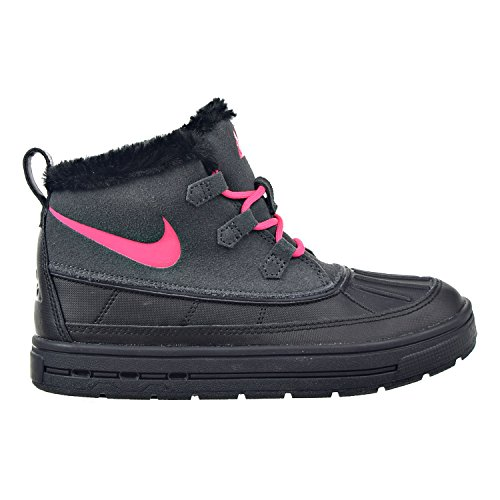 NIKE Little Kids Boots Woodside Chukka 2 Anthracite/Black/Hyper Pink 859426-001 (1 M US)