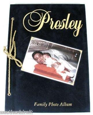 Elvis Presley Family Photo Album Hardbound Rare 1st - First Album Presley Gold Elvis