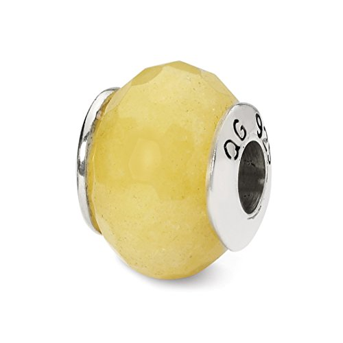 925 Sterling Silver Charm For Bracelet Yellow Quartz Stone Bead From The Earth Fine Jewelry Gifts For Women For Her