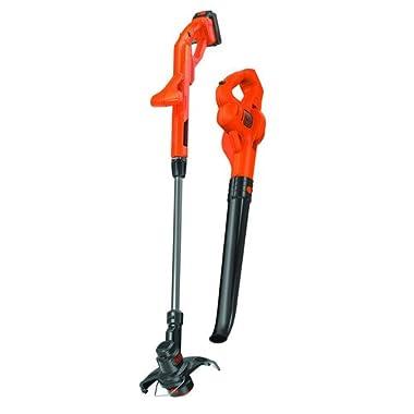 Black & Decker LCC221 20V MAX Lithium String Trimmer/Edger Plus Sweeper Combo Kit, 10