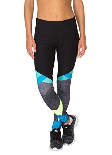 RBX Active Women's Colorblock Printed Legging Cool Combo L
