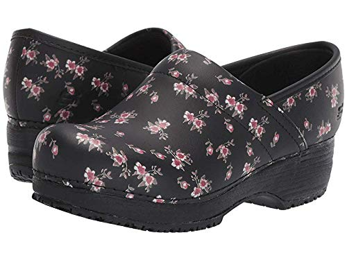 Work Clog Skechers - Skechers Work Clog SR Slip Resistant Womens Shoes Black/Pink 9