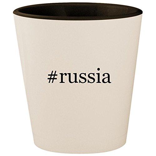 Price comparison product image #russia - Hashtag White Outer & Black Inner Ceramic 1.5oz Shot Glass