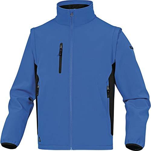 Delta Plus myse2bnxg Chaqueta de Softshell, 96/% poli/éster 4/% elastano, brazos desmontables, Azul de color negro, XL, 10/unidades