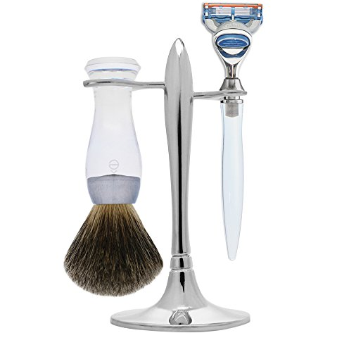 (eShave Nickel Plated 5 Blade T Shave Set, Clear)
