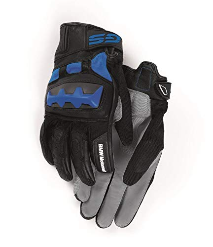 BMW Genuine Motorcycle Motorrad Rallye Glove Grey/Blue (7-7.5)