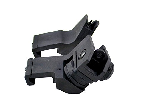 Side Mount Front & Rear Sight Combo - Black