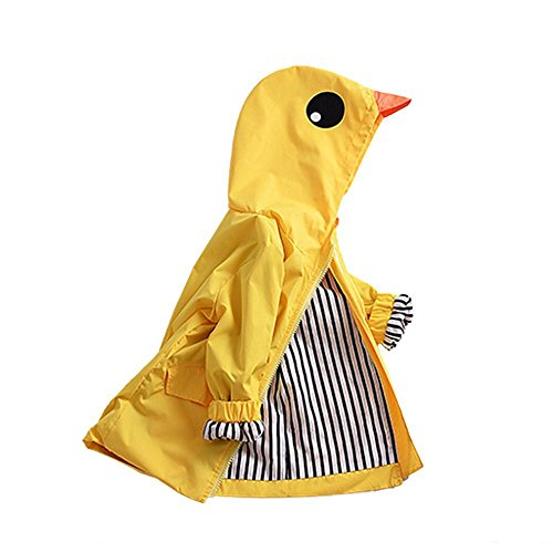SWISSWELL Hooded Rain Jacket for Unisex Kids Yellow Size 24M/Label (Kids Unisex Hooded Jacket)