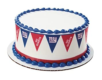 Amazon.com : NY Giants Edible Cake Border ...