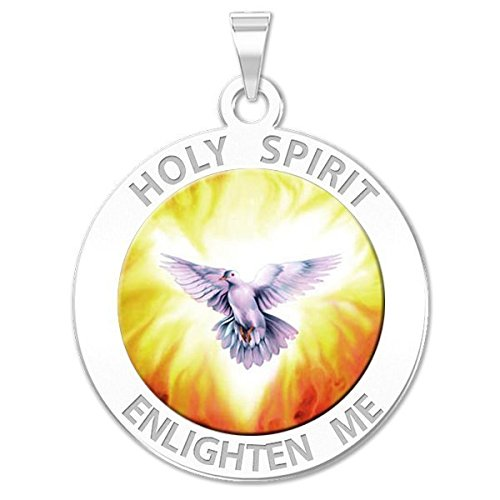 PicturesOnGold.com Holy Spirit Religious Medal Color Available in Solid 14K Yellow or White Gold, or in Sterling Silver