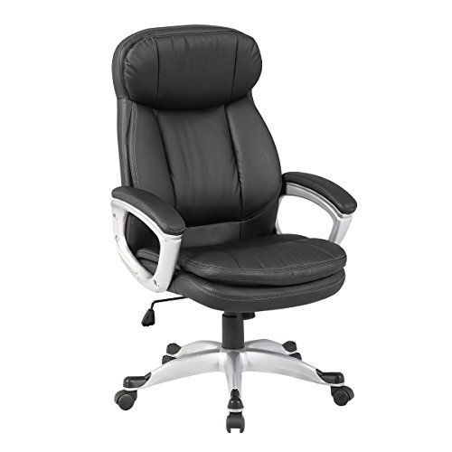 Executive Chair Ergonomic High Back Leather Manager Office Chair by KERMS ()