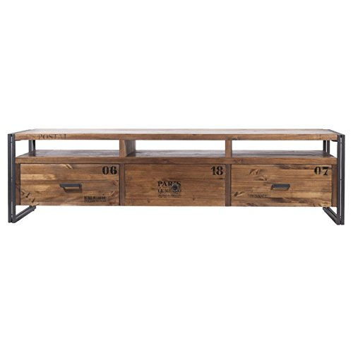 Indhouse - Mueble de TV Estilo Loft Industrial en Metal y Madera ...