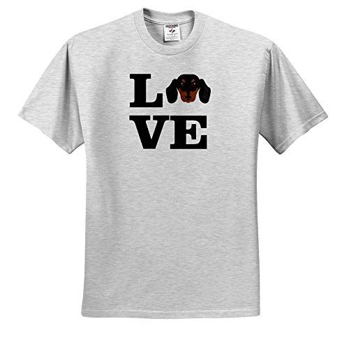 Carsten Reisinger - Illustrations - I Love My Dachshund Dog Design Canine Lover - T-Shirts - Youth Birch-Gray-T-Shirt Med(10-12) (Birch Gray T-shirt)