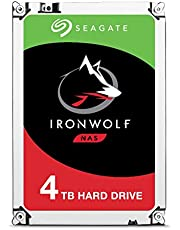 Seagate 4TB IronWolf NAS SATA 6Gb/s NCQ 64MB Cache 3.5-Inch Internal Hard Drive (ST4000VN008) Silver