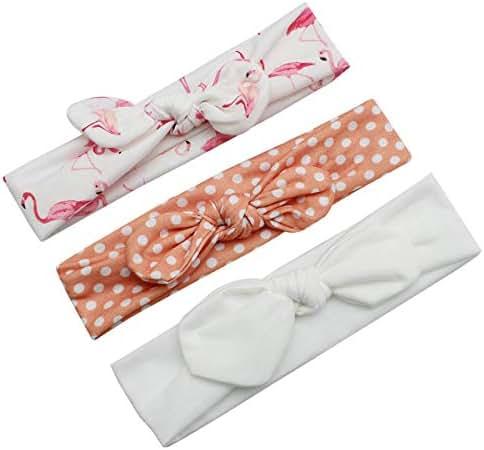 NORMOV Bow Flower Headbands for Baby Girls Newborn Infants Toddler Hair Accessories(0-4Y)