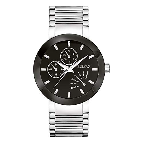 Bulova Men's 96C105 Black Stainless Steel ()