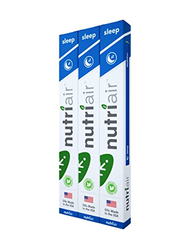 Nutriair Sleep Inhaler - Nutritional Aromatherapy Supplement – Fall Asleep Quickly, Wake Refreshed – All Natural Sleep Aid with Melatonin, L-Theanine, and Passion Flower Extract (3 Pack)