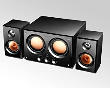 71bce62a838 2.1 Channel 12W RMS Bluetooth Speaker Home Hifi System Compatible with Any  3.5mm Audio Line
