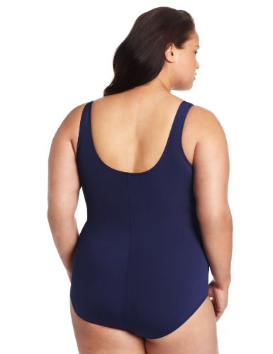 17acbe94dc9b3f Speedo Women's Plus-Size Endurance+ Side Shirred Tank Swimsuit - Buy ...