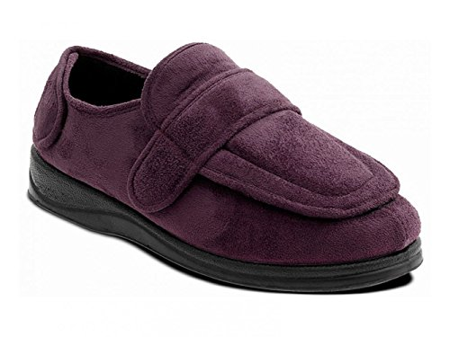 Bordeaux ee Velcro Enfold Large chaussons Extra Rouge Padders Mixte Fixation w68qIC