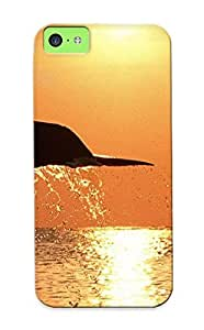 Inthebeauty Design High Quality Dolphinunset Cover Case With Ellent Style For Iphone 5c(nice Gift For Christmas)