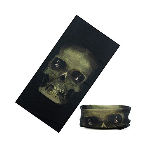 elegantstunning Outdoor Multifunctional Sports Magic Scarf,with Flame, Skull Pattern,High Elastic Camouflage Headband with UV (048 Magic)
