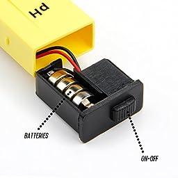 Etekcity High Accuracy Pocket Size Handheld pH Meter Pen Tester, Yellow