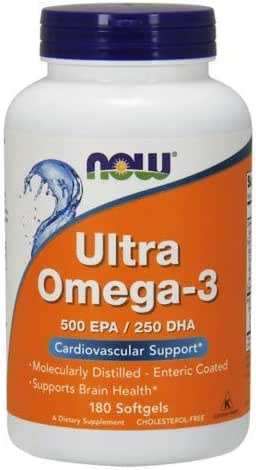 Now Foods - Ultra Omega-3 500 EPA/250 DHA - 180 Softgels