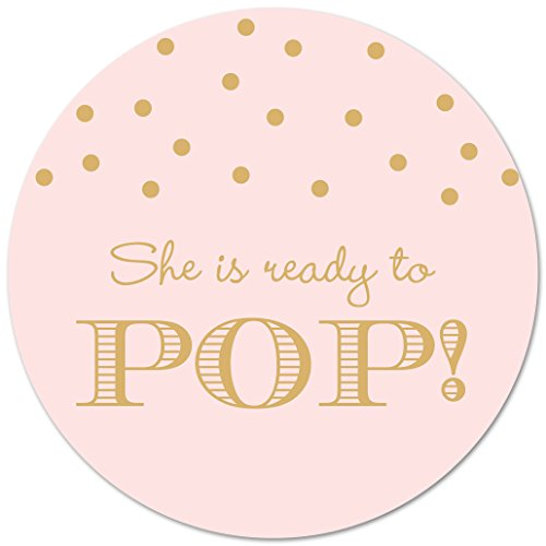 40 Ready To Pop Stickers (Gold on Pink)