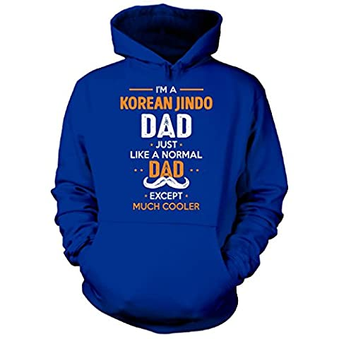 Korean Jindo Dad Except Much Cooler Cool Gift - Hoodie Royal M (The Birth Of Korean Cool)