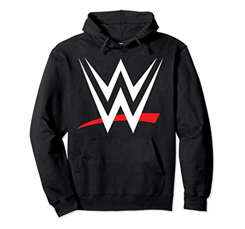 - WWE Classic Red And White Logo Pullover Hoodie