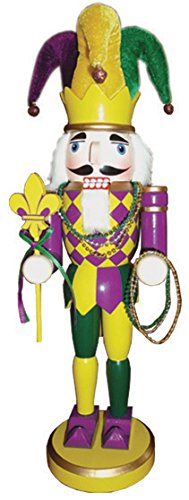 Santa's Workshop 70223 Mardi Gras Nutcracker, 14.5'' ,, by Santa's Workshop