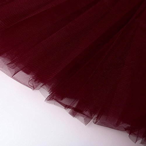 Dance Skirt Red Wine Elegant Dance Fashion Tutu Short Chic Pieghe Tulle in Aimee7 Girls 85q6AxSS