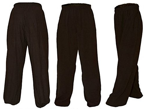 Tai Chi Kung Fu Soft Black Cotton Pants - Adult Unisex Large