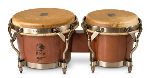 TOCA - 3900D Traditional Dark Walnut Finish Bongos by Toca
