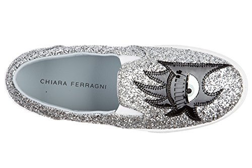 women's sneakers flirting silver FERRAGNI CHIARA slip on fSFCwq