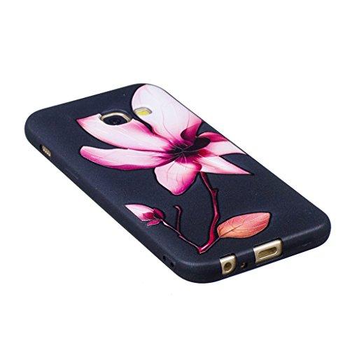 Trumpshop Smartphone Carcasa Funda Protección para Samsung Galaxy A3 (2016) SM-A310 [Panda linda] Serie Talla Ultra Suave Flexibles TPU Silicona Resistente a arañazos Caja Protectora Flor del lirio