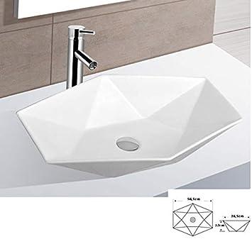 Lavabo en céramique ovale grand de lavage Vasque à Poser en ...