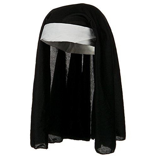 [Womens Nun Headpiece Hat Habit Catholic Religious Veil Hood Costume Accessory] (Nun Costume Headpiece)