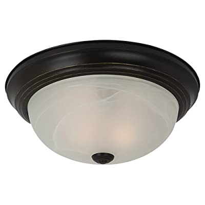 Sea Gull Lighting 7594315 Windgate 3 Light Ceiling Flush Mount,White